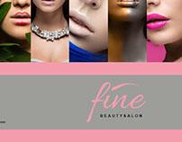 fine beauty salon flyer