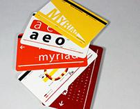 Typeface cardset