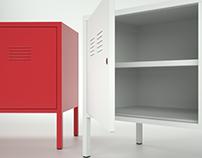 Modeling IKEA PS cabinet