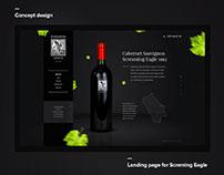 Design concept landing page   Wine Screming Eagle