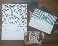 Geometric Invitation Set