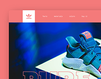 Landing Page for Adidas