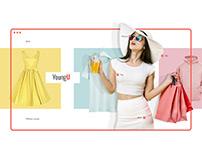 E-commerce Website Concept. Clothes online store