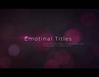 Emotional Titles