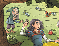 Snow White book illustration for children