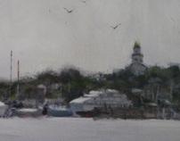 Grey Day Nantucket Harbor