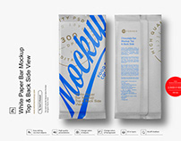 White Paper Bar Mockup Top & Back Side View