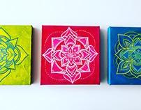 tríptico mandalas sietecolores