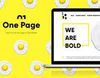 Bold Visual and Front-End Landing Design