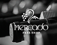 Mercado Free Shop : Logotype and Stationary