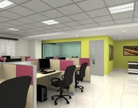 Interior works and renders for L&T Construction
