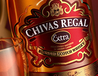 3D bottle of Chivas Regal Extra