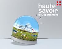 Carte de voeux 2017 du département de la Haute-savoie