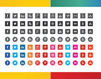 Download Free Flat Social Icons