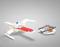 LEGO X-Wing and Snowspeeder
