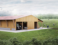 Render of a Cow Stable
