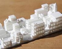 Miniature city landscape