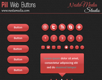 Red Pill Web Buttons (PSD)