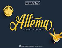 Allema Script Font - ( FREE )