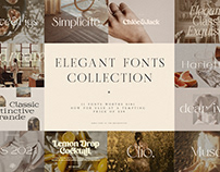 Chic & Elegant Fonts Collection