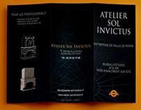 Brochure 3 Volets - Entreprise de taille de pierre