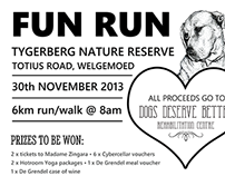 Dogs Deserve Better Fun Run Poster