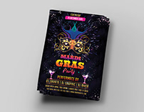 Mardi Gras & Carnival Party Flyer Title Design
