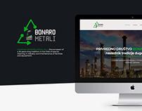 Web UI/UX design - Bonaro Metali