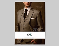 A product brochure for luxury men's fashion products.