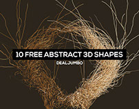 10 FREE Futuristic 3D Shapes