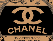 CoCo Chanel Print Ad/Poster/t-shirt
