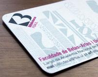 Biblioteca FBAUL - Cartão e Manual | Card & Manual
