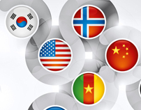 Round Glossy Flags