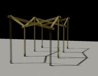 Diseño de una pérgola de madera