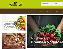 Organic Food & Vegetables eCommerce/WooCommerce Website