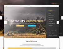 Mockup Web Design For PROJECT JAGUAR
