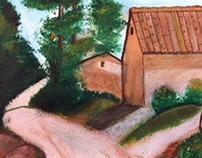 Paysages à l'acrylique