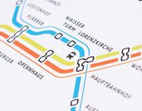 Nurnberg U-Bahn Liniennetz