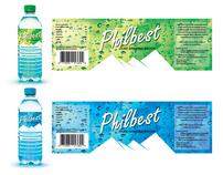 Philbest Pure Water Bottle Label Design