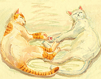 Story book--There Was a Cat Who Could Live for a Millio