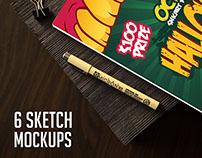 6 Sketch Mockups