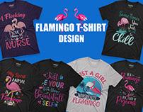 Flamingo T-shirt Design