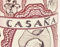 Casaña wine labels