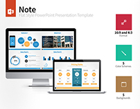 Note - Flat Style PowerPoint Template