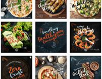 Healthy food restaurant - Social Media Posts