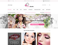 Cosmetics Store - Bootstrap PSD Templates