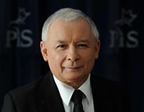 [FOTO] Portret Jarosława Kaczyńskiego - prezesa PiS