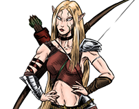CONCEPT ART: Guerrera Elfa / Elf HUnter