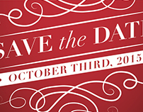 Save the Date Postcard - Beth and Scott