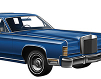 1978 LINCOLN CONTINENTAL digial drawing